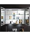 Bauhaus Allure Double Door Mirror Cabinet 900 x 700mm small Image 4