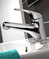 Twyford X52 Low Flow Monobloc Basin Mixer Tap With Click Clack Waste small Image 4