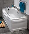 Twyford Opal 1700 x 700mm Plain 2 Tap Hole Acrylic Bath With Grips small Image 4