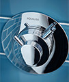 Aqualisa Dream Bi-metallic Concealed Thermostatic Shower Valve With Wall Fixed Head small Image 4