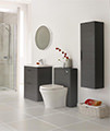 Nuie Premier Eclipse 800mm 2 Drawer Floor Standing Cabinet And Basin small Image 4