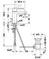 Duravit B.2 Single Lever Basin Mixer Tap small Image 4