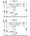 Duravit DuraStyle 800 x 480mm Asymmetric Left Bowl Furniture Basin small Image 4
