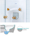 Duravit D-Code 545mm Wall Mounted Toilet small Image 4