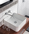 Crosswater Kai Lever Wall Mounted 2 Hole Basin Mixer Tap Set small Image 4