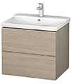 Duravit L-Cube 620mm Wall Mounted Vanity Unit With P3 Comforts Basin small Image 4