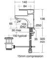 Ideal Standard Calista Basin Mixer Tap small Image 4