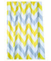Croydex Navy Pinstripe Textile Shower Curtain small Image 4
