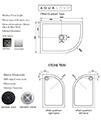 Aquadart Venturi 8 Double Door 1900mm High Offset Shower Quadrant small Image 4