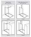 Aquadart Wetroom 8 Walk-In Shower Glass Panel small Image 4