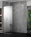 Aquadart Wetroom 2000mm High 10 Walk-In Shower Glass Panel small Image 4