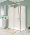 Twyford Geo Sliding Shower Door With 6mm Glass small Image 4