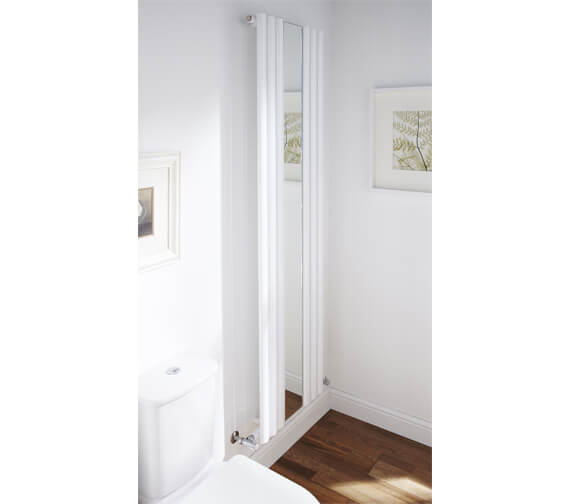 Frontline Bordeaux 500 x 1800mm Vertical Designer Radiator With Mirror small Image 4