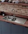 Rangemaster Houston 985 x 508mm Stainless Steel 1.5B Inset Kitchen Sink small Image 4