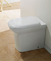 IMEX Grace Back To Wall WC Bowl 540mm With Seat small Image 4
