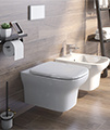 IMEX Grace Rimless Wall Hung WC Bowl And Soft Close Seat 500mm small Image 4