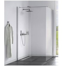Aqualux Origin 8 Corner Fit Walk In Shower Panel With Installation Kit