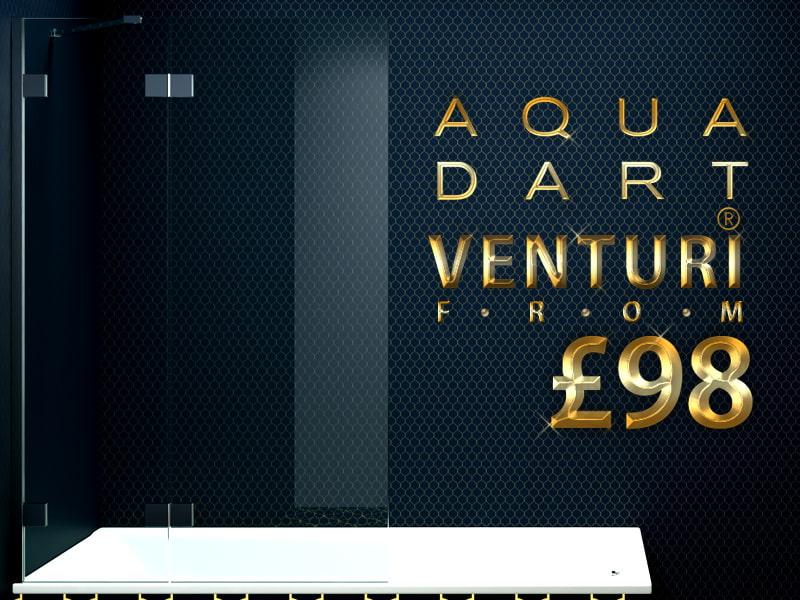 Aquadart Venturi Hinged Bath Screen