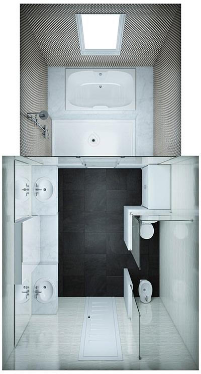 Lare Bathroom Layout