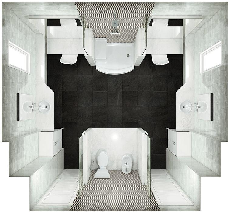 Large bathroom Layout