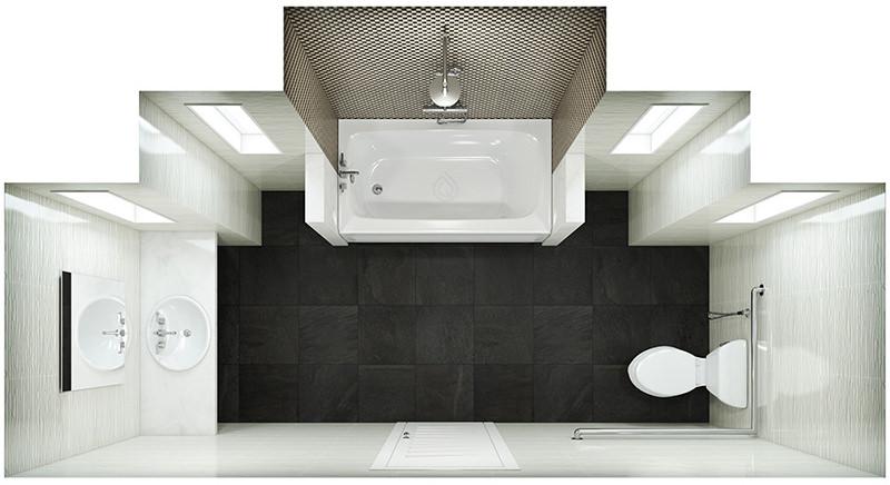 Standard Size Bathroom Layout