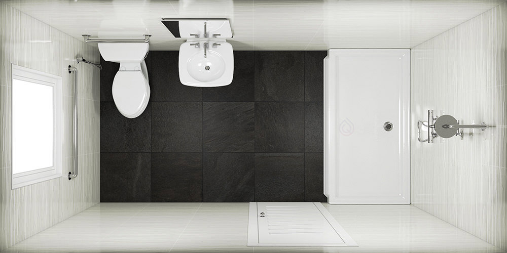 Rectangle Small Bathroom Layout