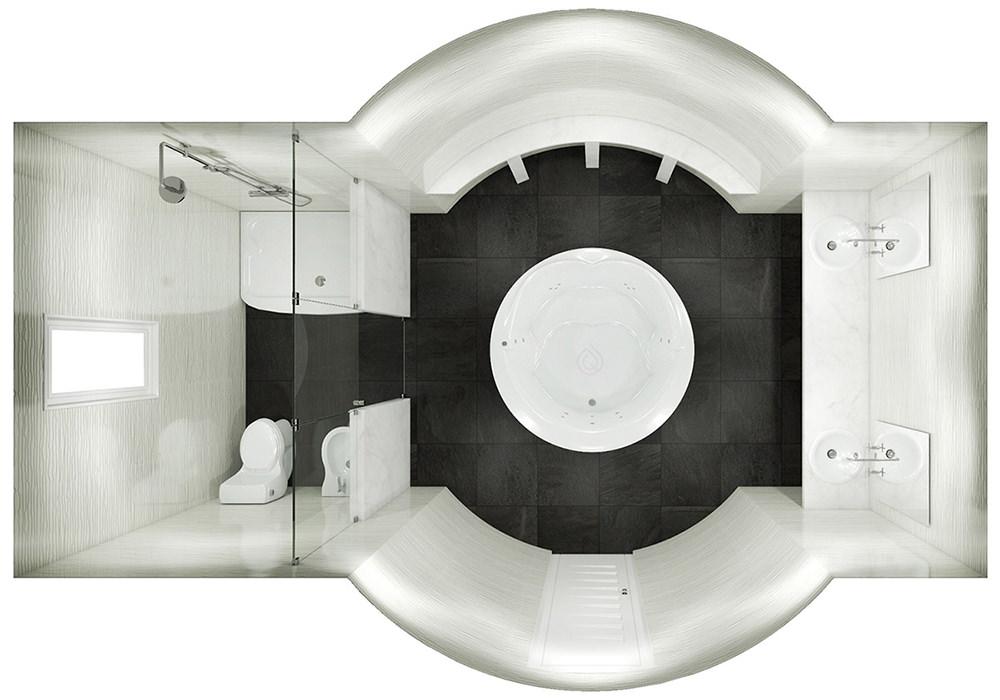Round Bathroom Layout