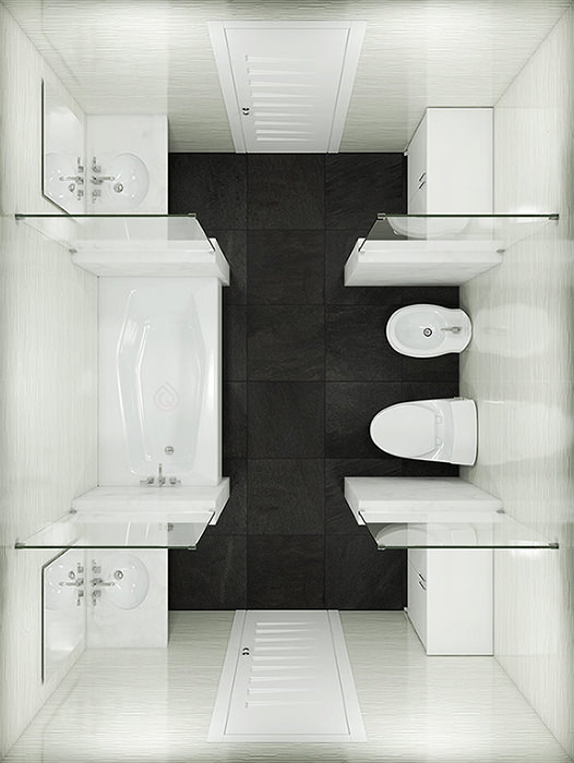 Square BathroomLayout