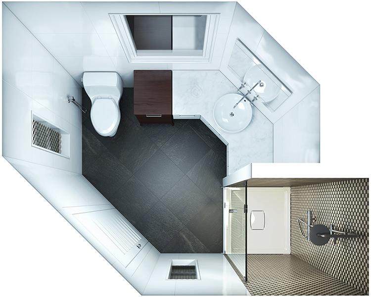 Corner Bthroom Layout