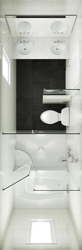 Large Bathroom Floor Plan