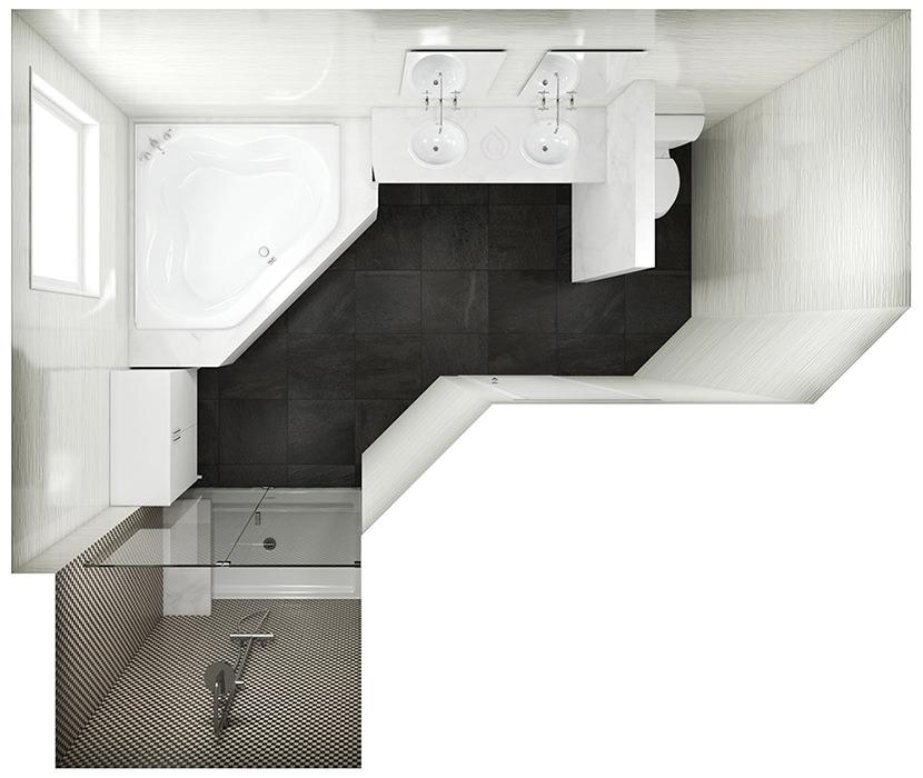 Standard Bathroom Layout