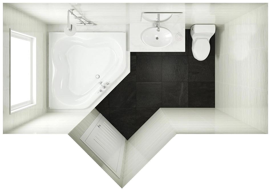 Small Corner Bathroom Layout