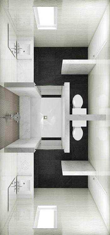 Extra Large Rectangle Bathroom Layout