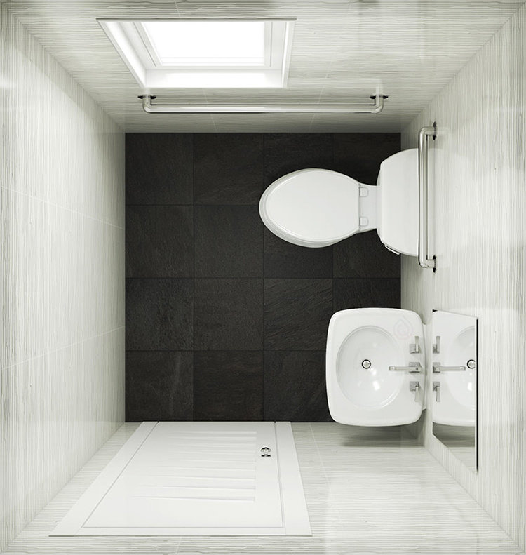 Small Claokroom Layout with Basin and WC