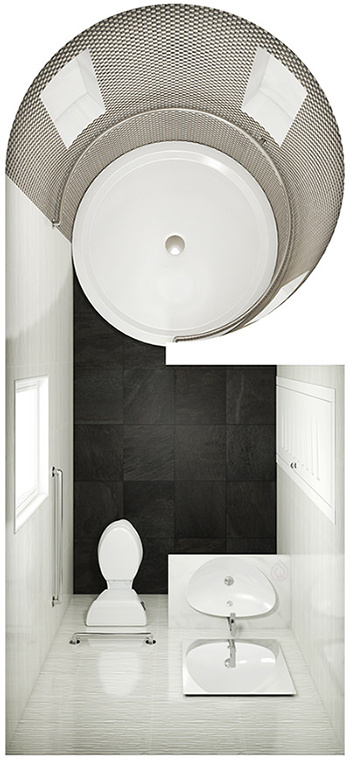 Small Bathroom Layout with Shower Enclosure with Basin & Toilet