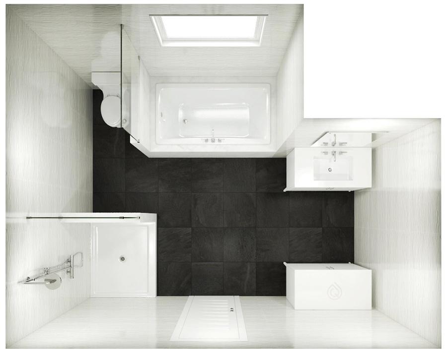 L Shape Bathroom Layout
