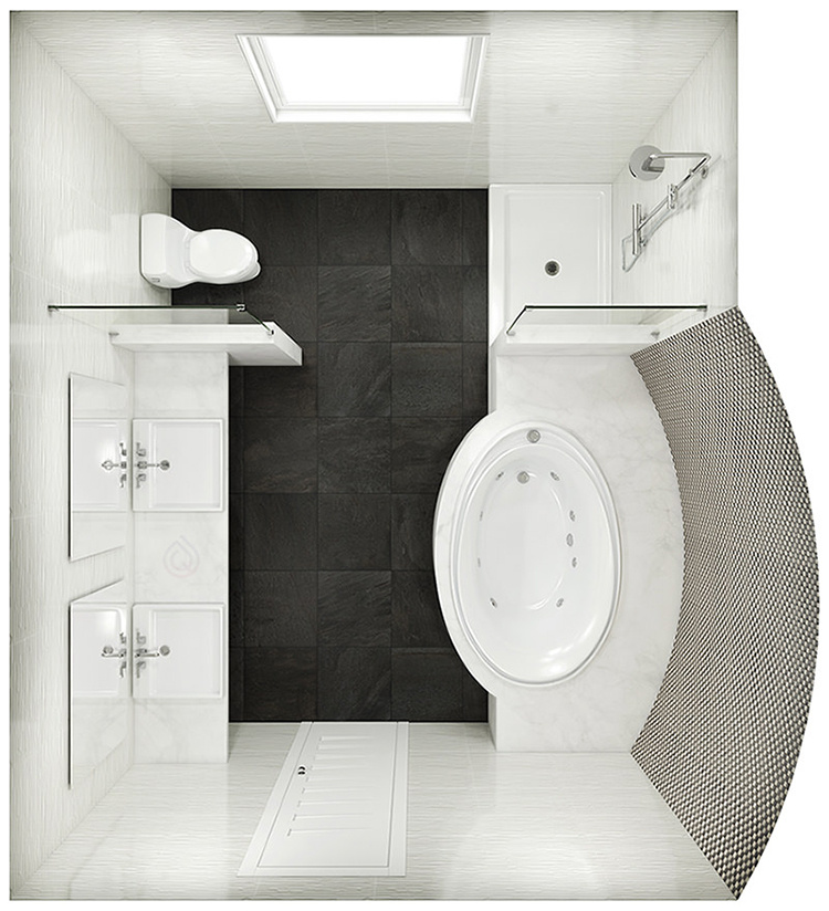 Extra Large Bathroom Layout with Large Bath