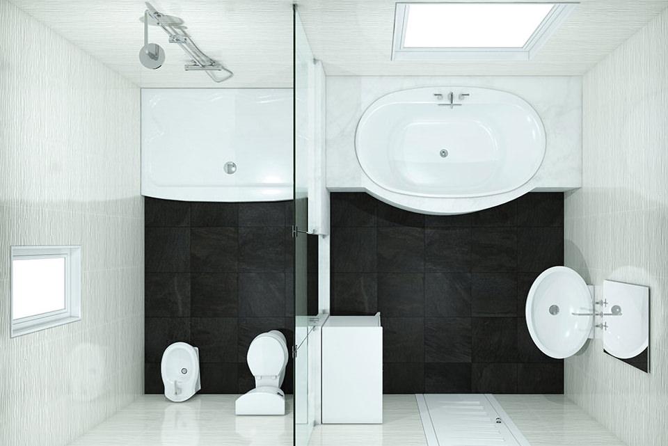 100 Bathroom Layouts - Bathroom Floor Plans & Ideas