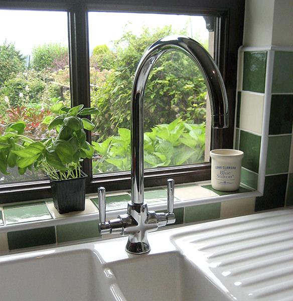 Rangemaster Cruciform Monobloc Dual Lever Kitchen Sink Mixer Tap