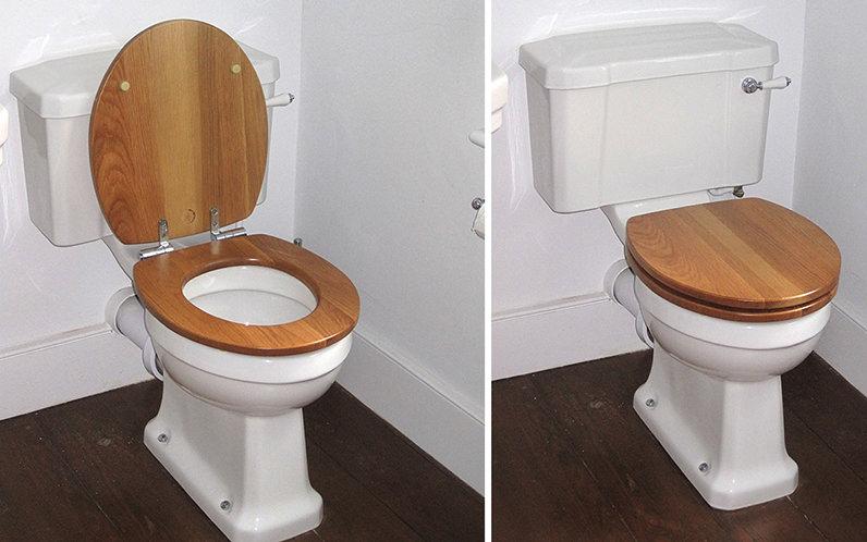 Soft Closing Toilet Seat Natural Oak