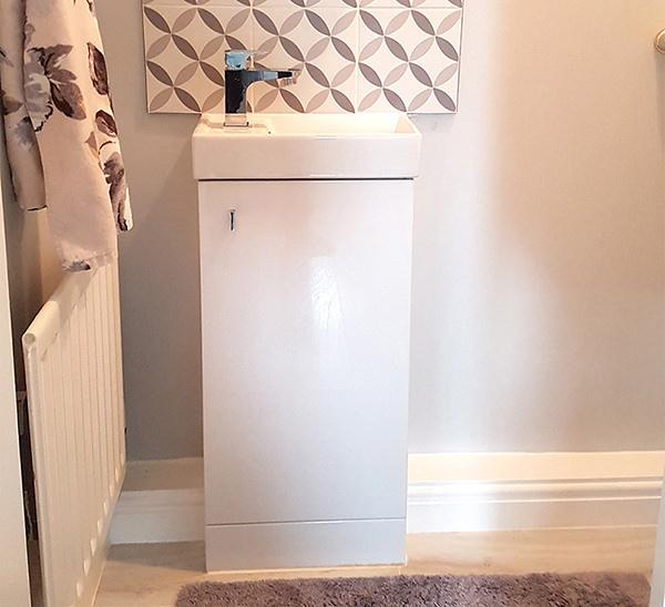 Lauren White Floor Standing Cabinet And Basin