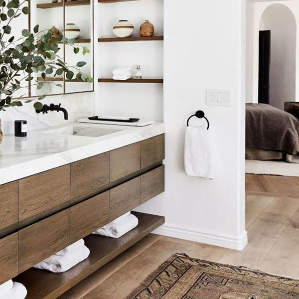 Add style points with recessed shelves
