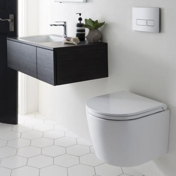 Floating toilets for the neat and tidy