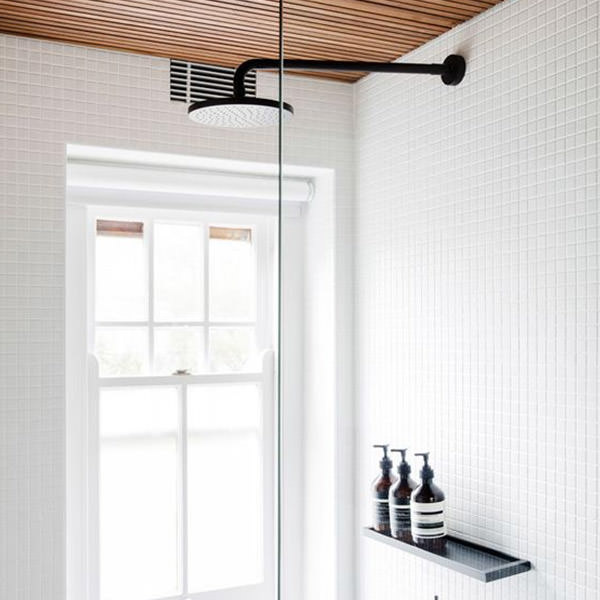 How to handle high bathroom ceilings