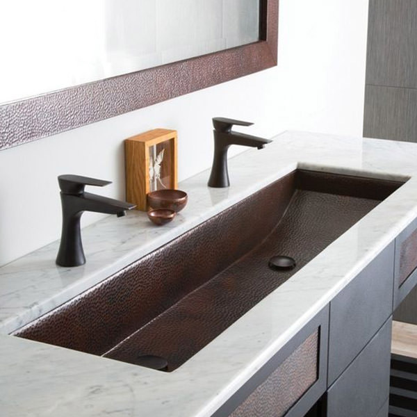 Trough sinks for two to share