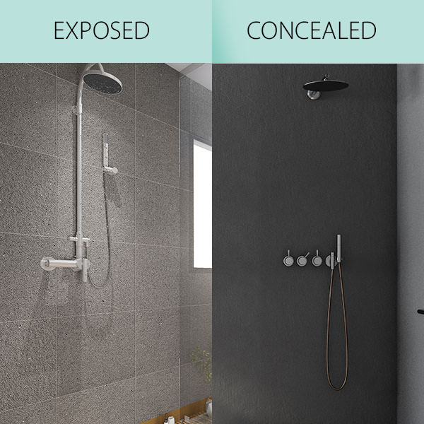 Exposed Vs Concealed Showers