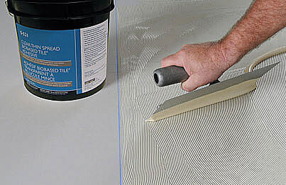 Floorcovering adhesive