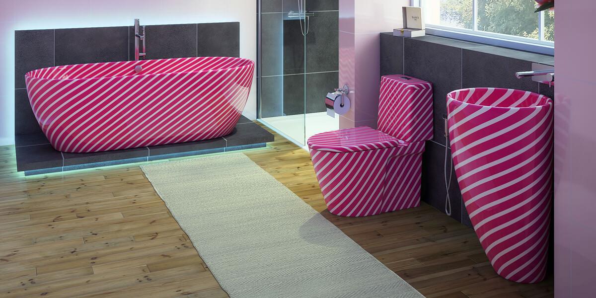 Candy Struck Bathroom Suite