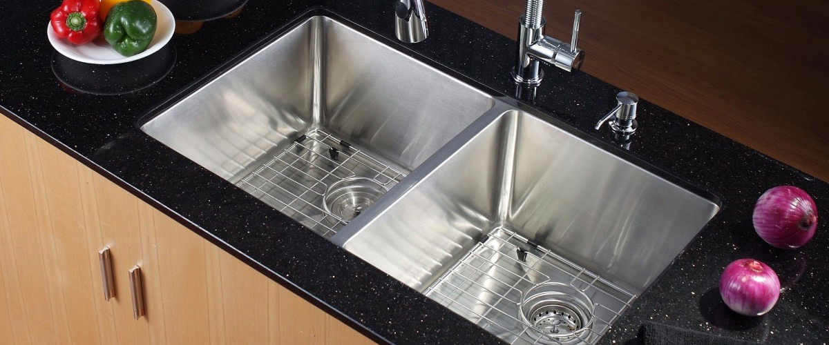 stainless steel 2 bowl sink