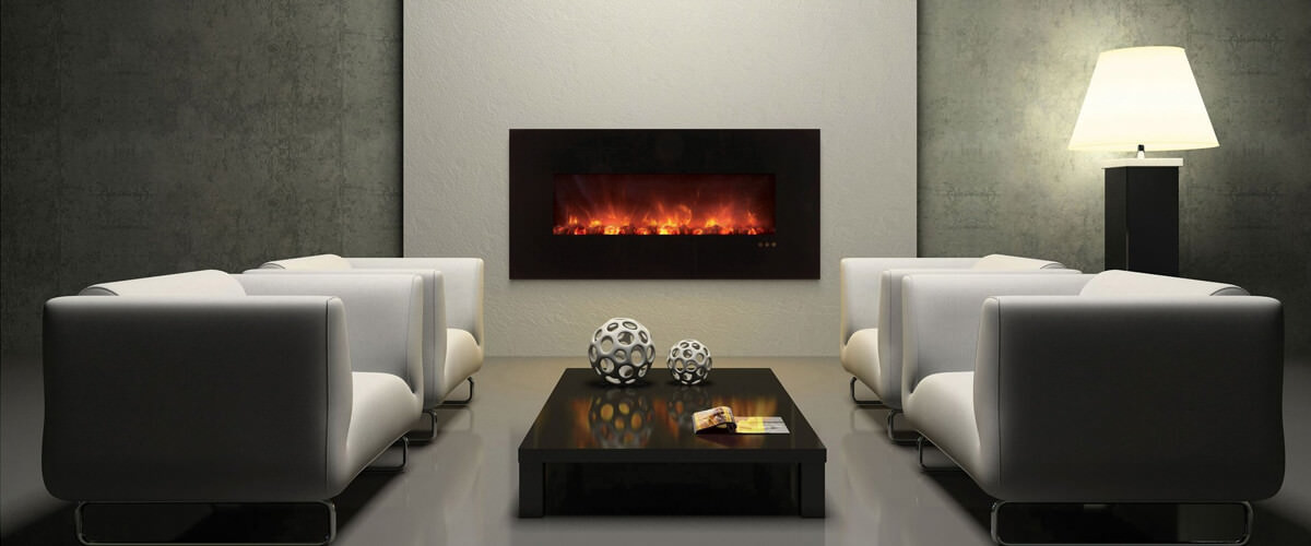 Wall-Mounted Electric Fire Place